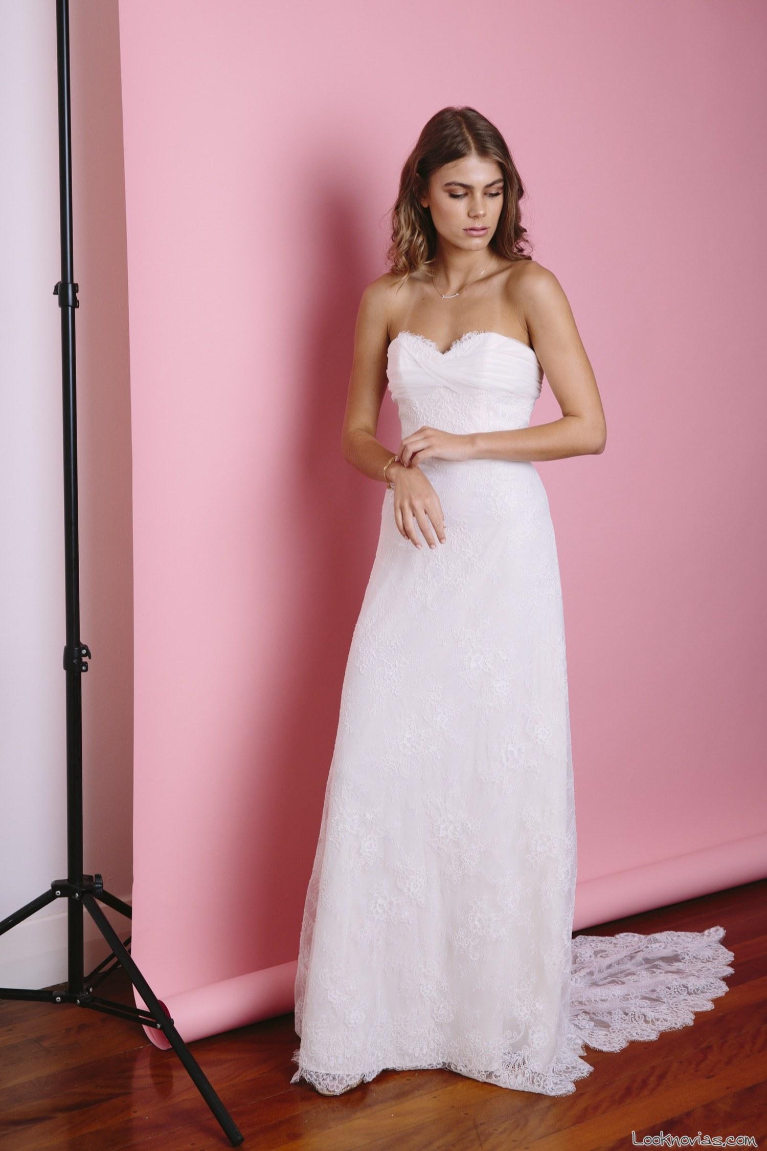 vestido recto blanco de jennifer gifford