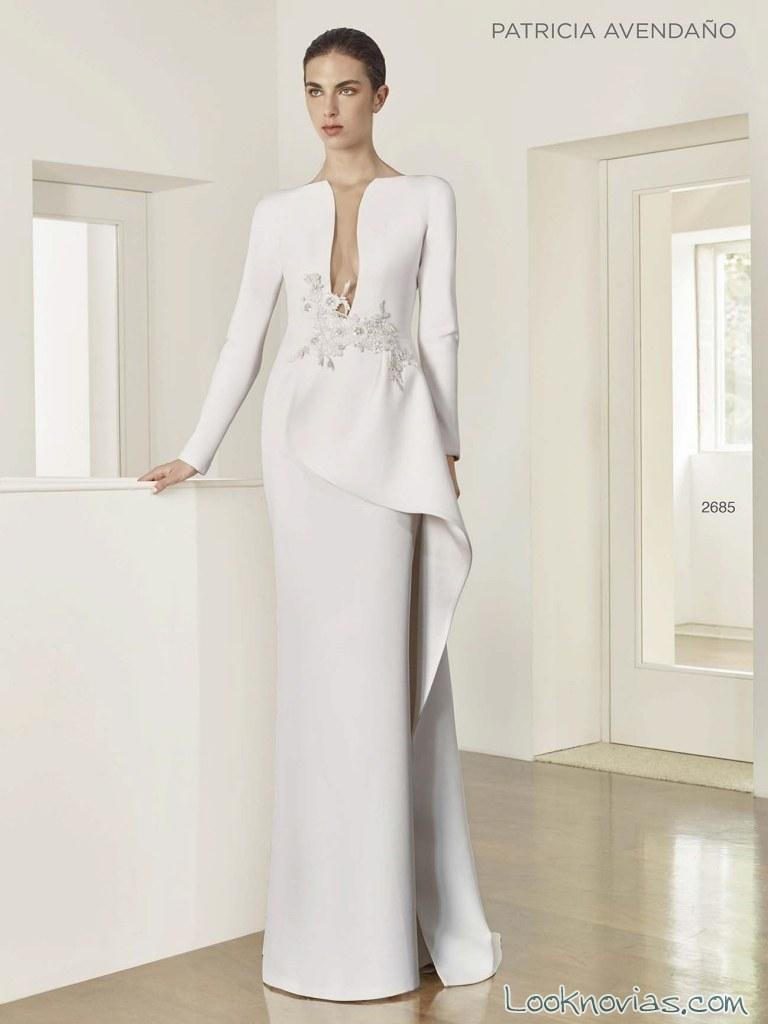 vestido recto blanco de patricia avendaño