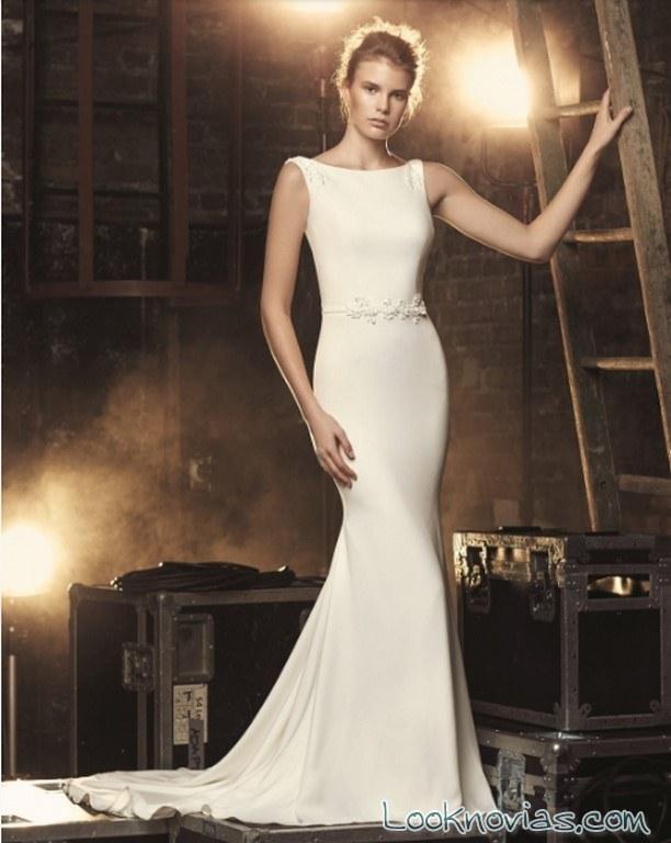 vestido recto blanco mikaella