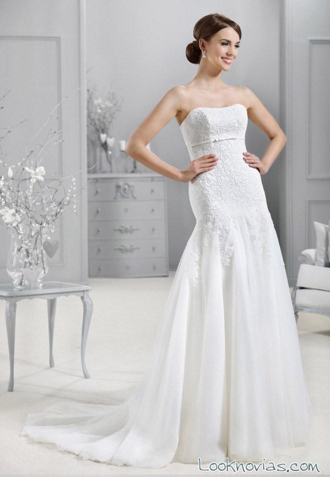 vestido recto blanco novias agnes bridal