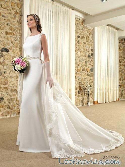 vestidos de novia rectos con cola – vestidos largos