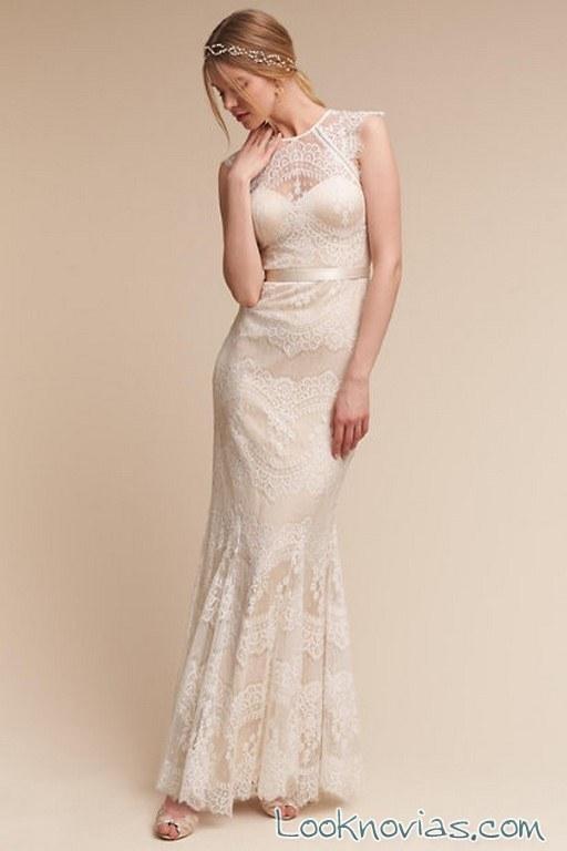 vestido recto con detalles BHLDN