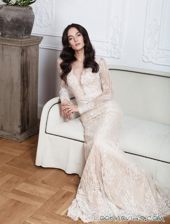 vestido recto con mangas rochii de mireasa