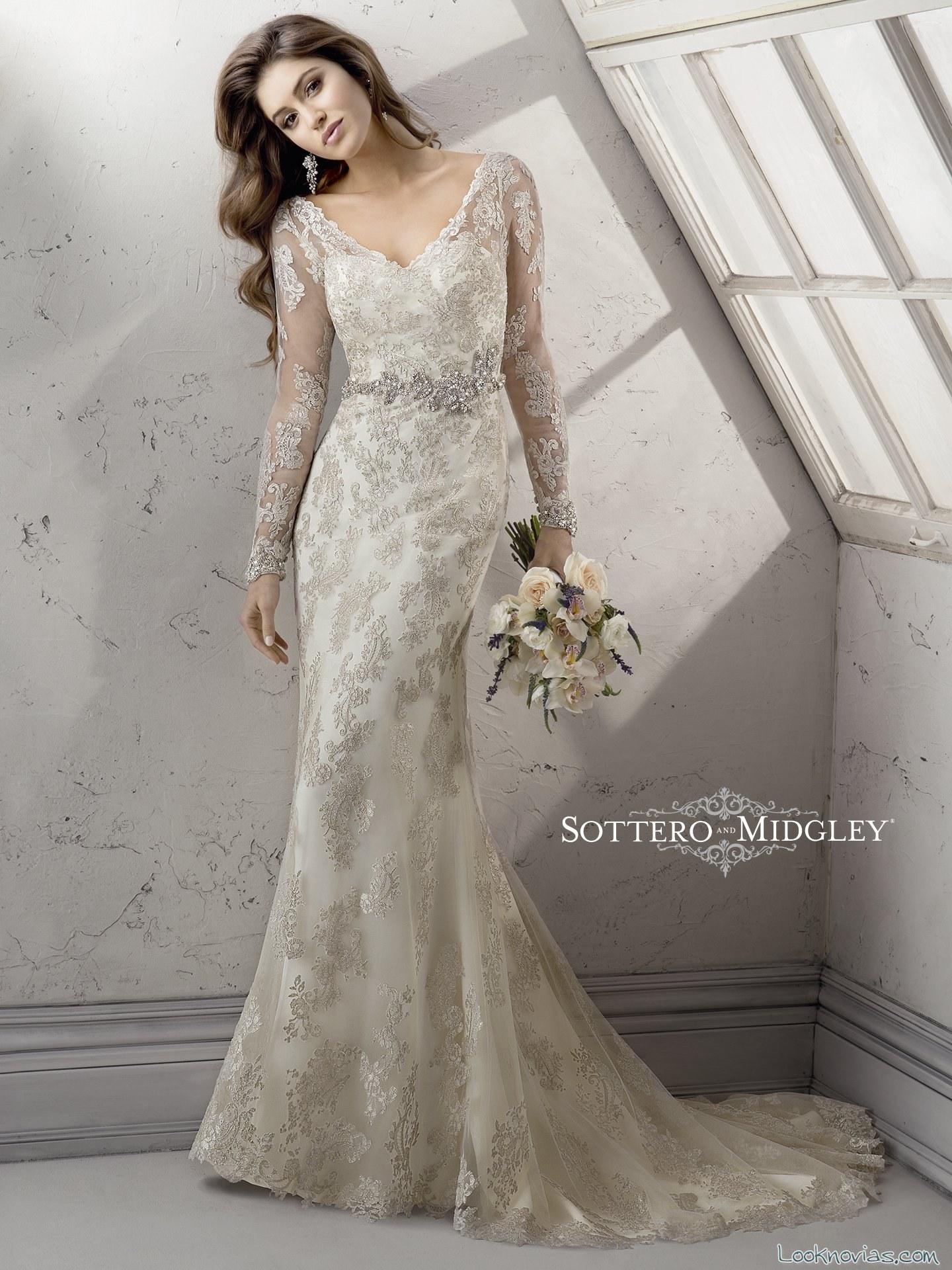 Vestidos de novia rectos y sencillos