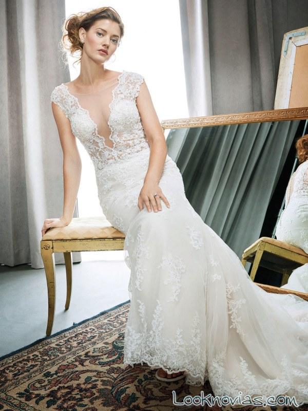 vestido recto de novia kenneth winston 2017