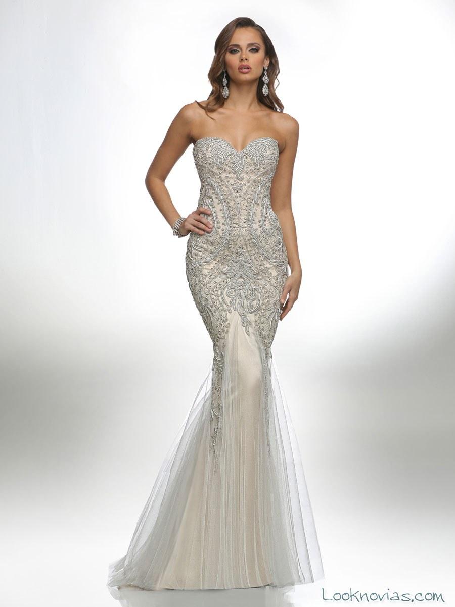 vestido recto de novia por victor harper