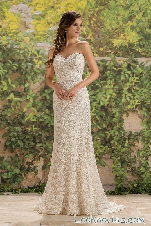 vestido recto jasmine bridal destination