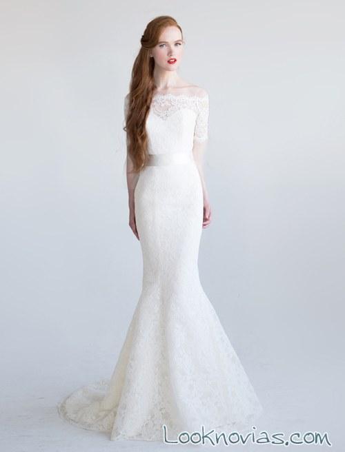 vestido recto novias aria
