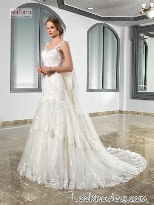 vestido recto novias doble falda