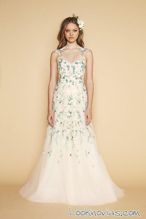 vestido recto novias en color azul
