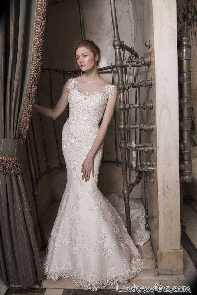 vestido recto novias modernas y románticas