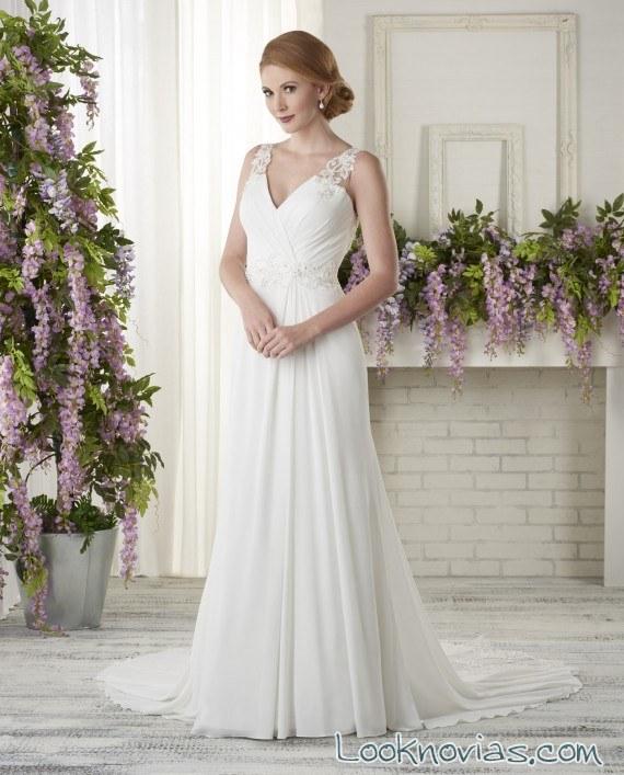 vestido recto novias sencillas