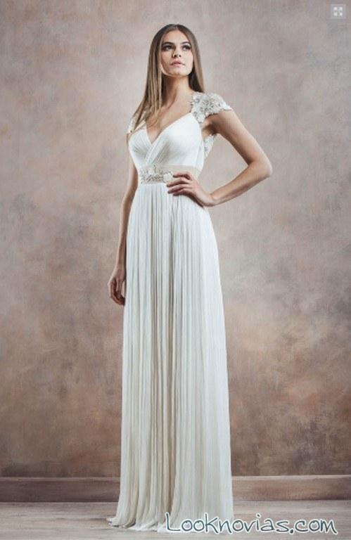 vestido recto poesía novias