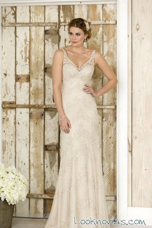 vestido recto true bride en color blanco