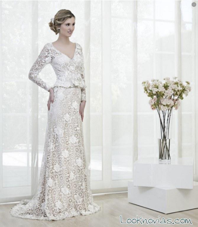 vestido recto xm novias bordados