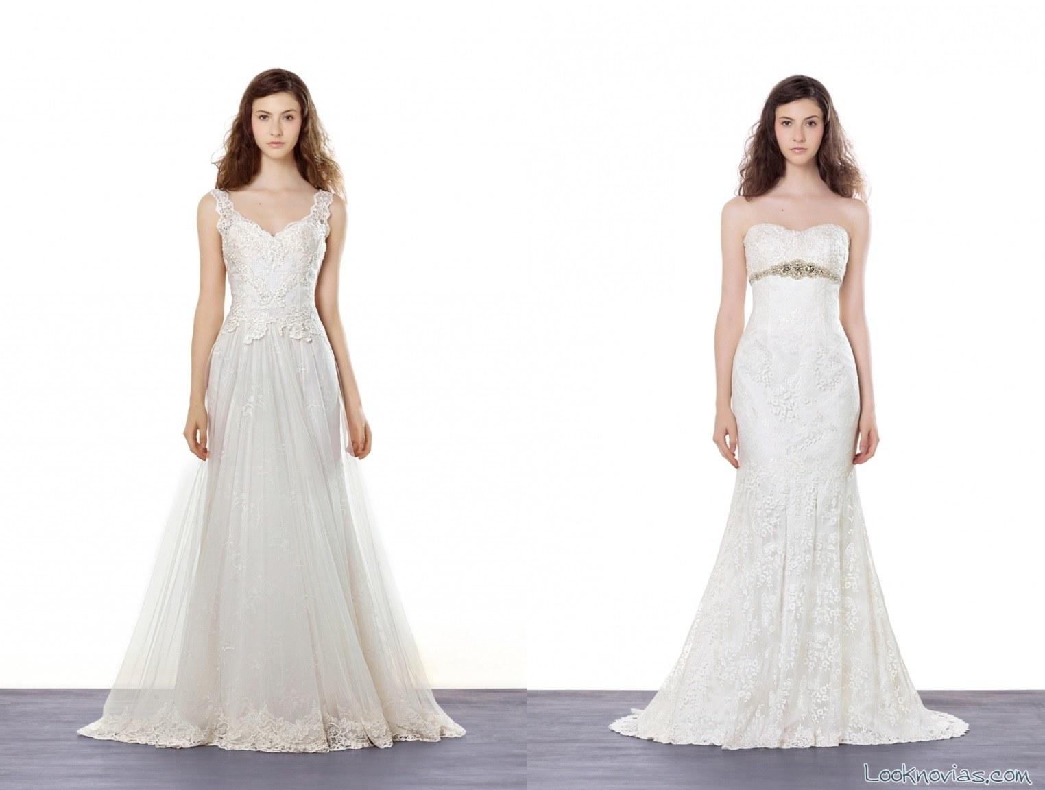 vestido rectos de novia LM
