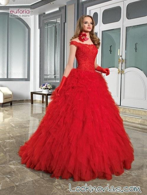 vestido rojo novias euforia 2017