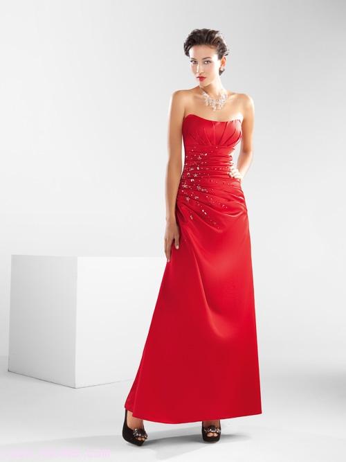 Vestidos rojos con pedrería