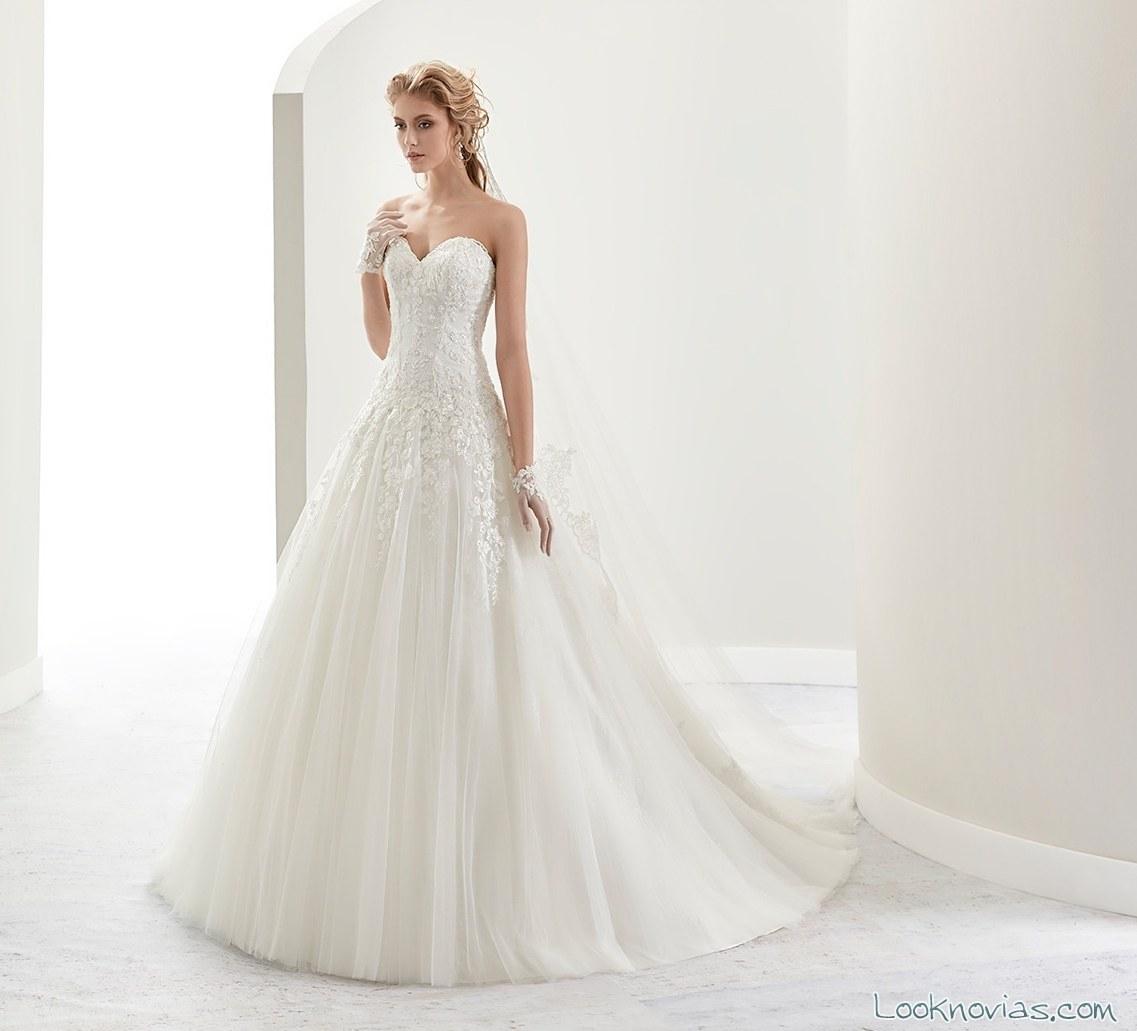vestido romántico blanco jolies 2017