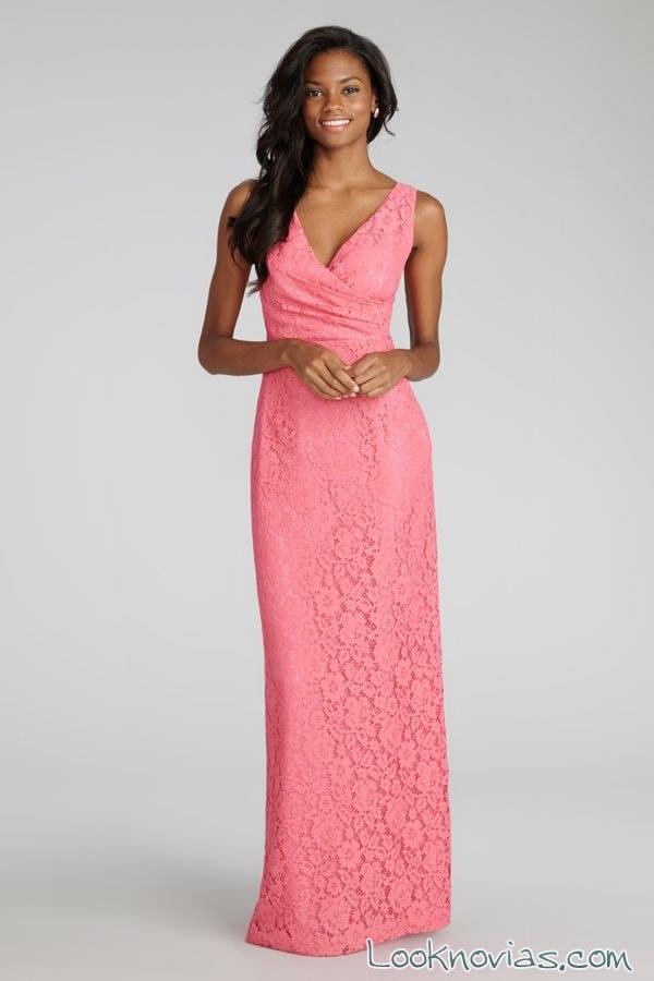 Vestidos de fiesta color rosa chicle – Vestidos de noche populares 2018