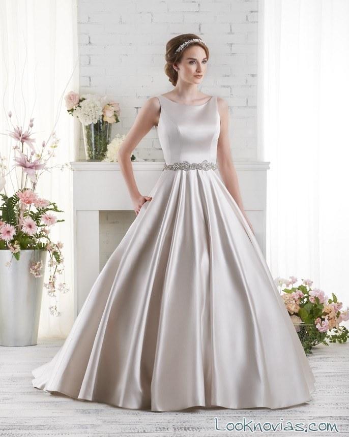 vestido satinado de bonny bridal