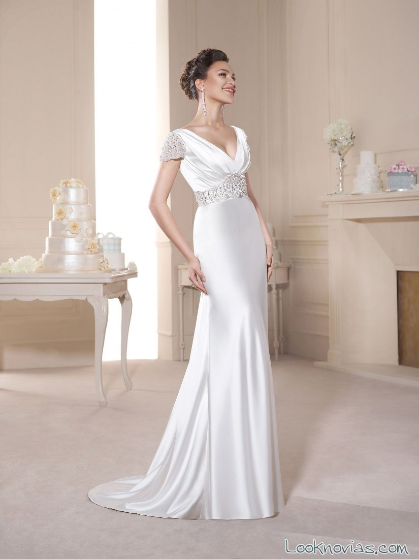 vestido satinado novia d´art