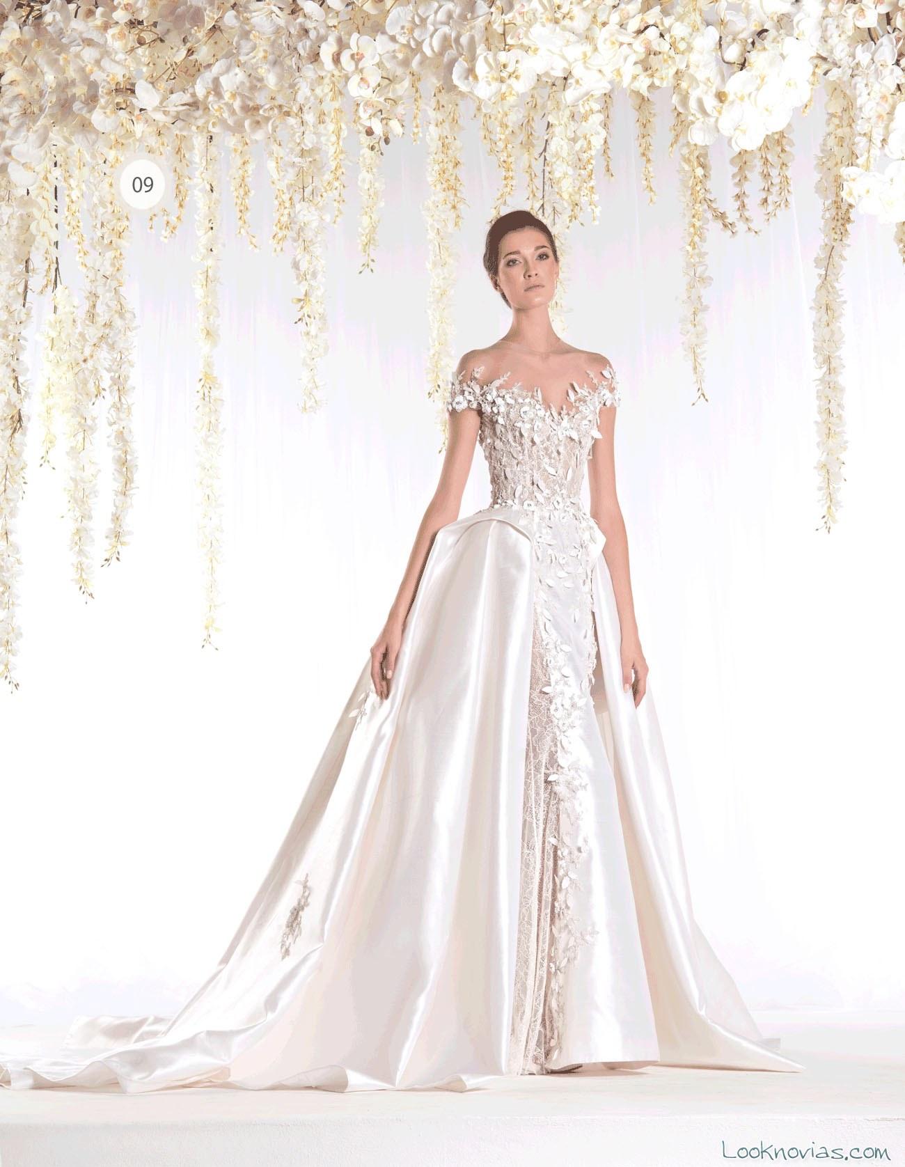 vestido satinado para novias