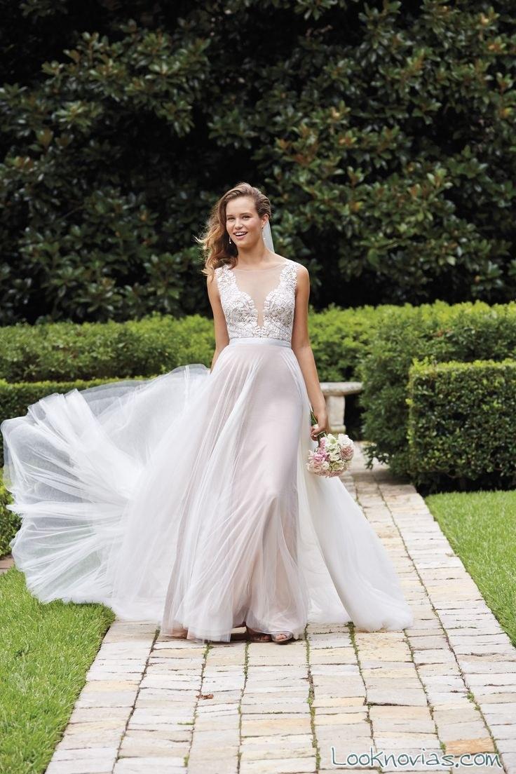 vestido sencillo de novia wtoo