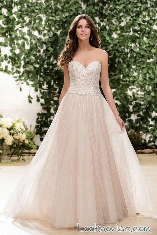 vestido sencillo jasmine bridal otoño 2016