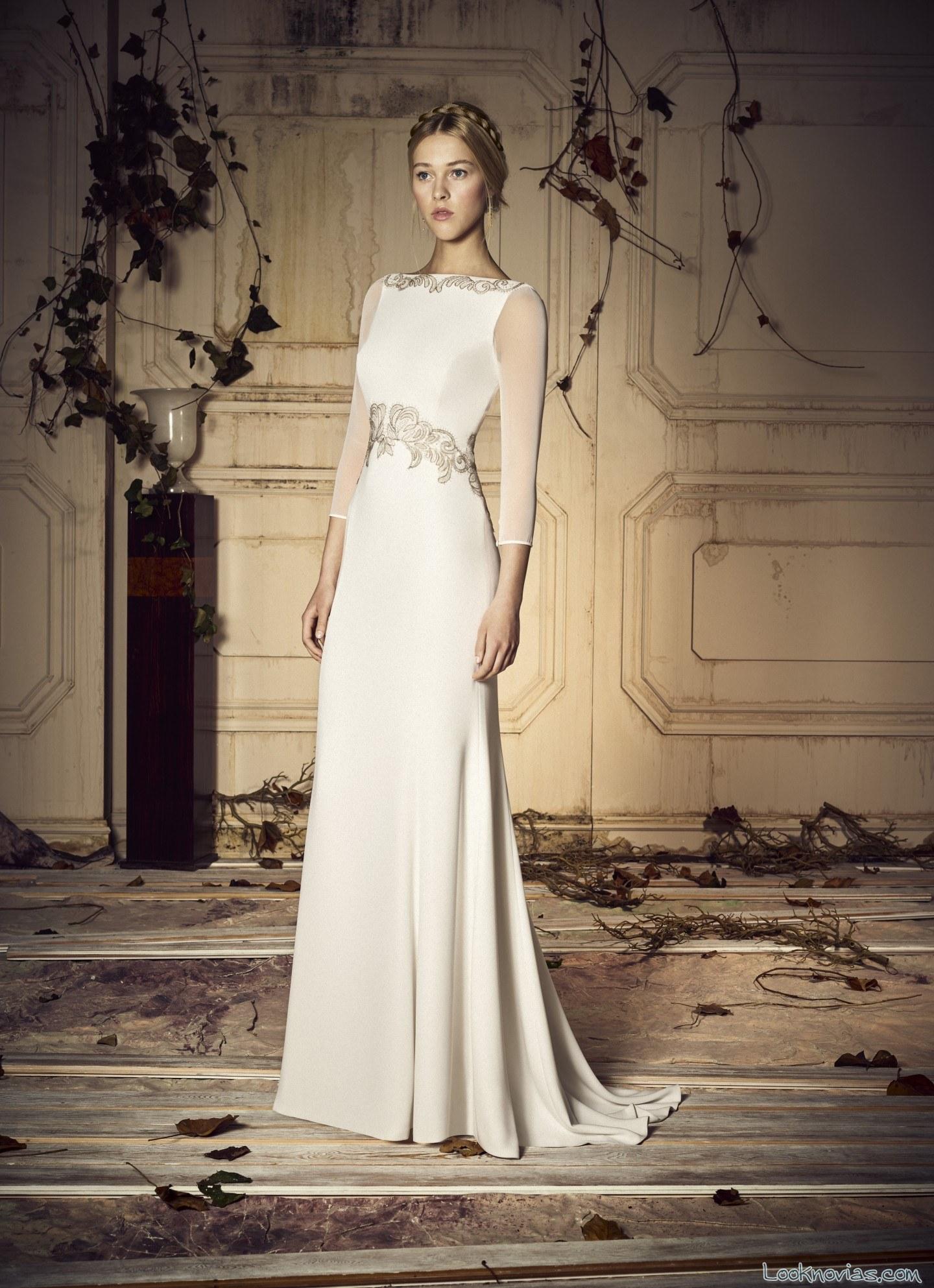 vestido sencillo novias whiteday blanco