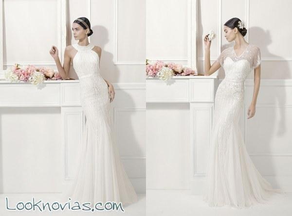 El brillo del estilo glam en los vestidos de novia