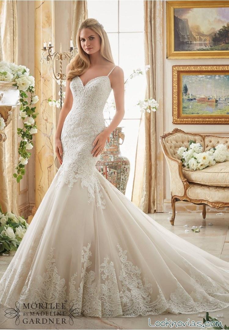 vestido sirena cola de novia