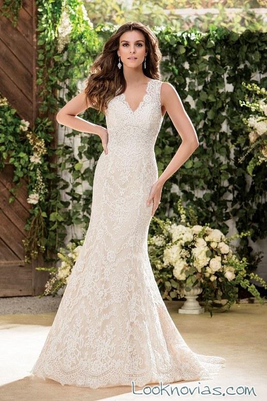 vestido sirena con tirantes de jasmine bridal
