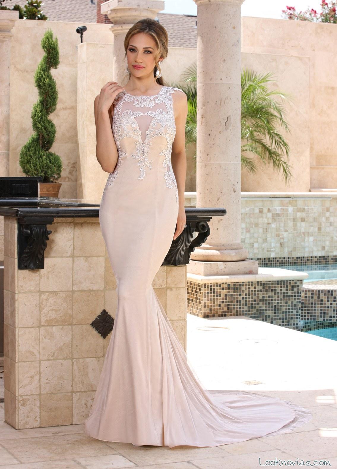 vestido sirena en color de da vinci bridal
