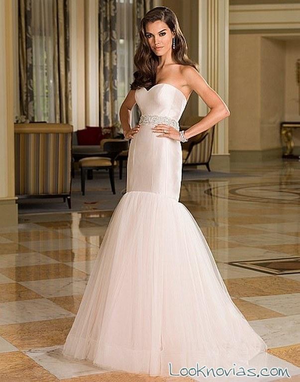 vestido sirena en color novias 2016