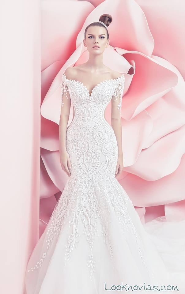 Bonito Sirena Vestidos De Novia 2014 Cresta - Colección del Vestido ...