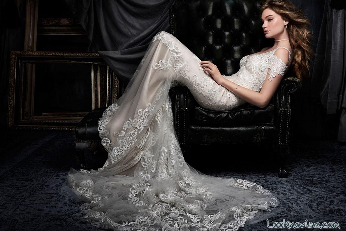 vestido sirena kenneth winston 2017