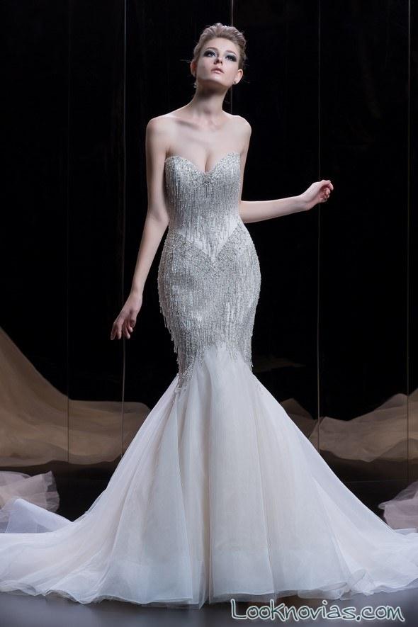 vestido sirena novias con tul