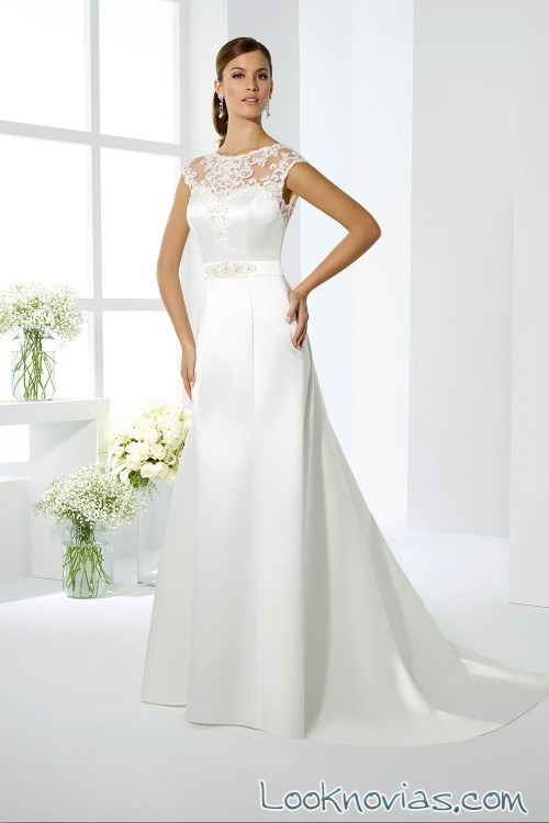 vestido sirena satinado novias just for you