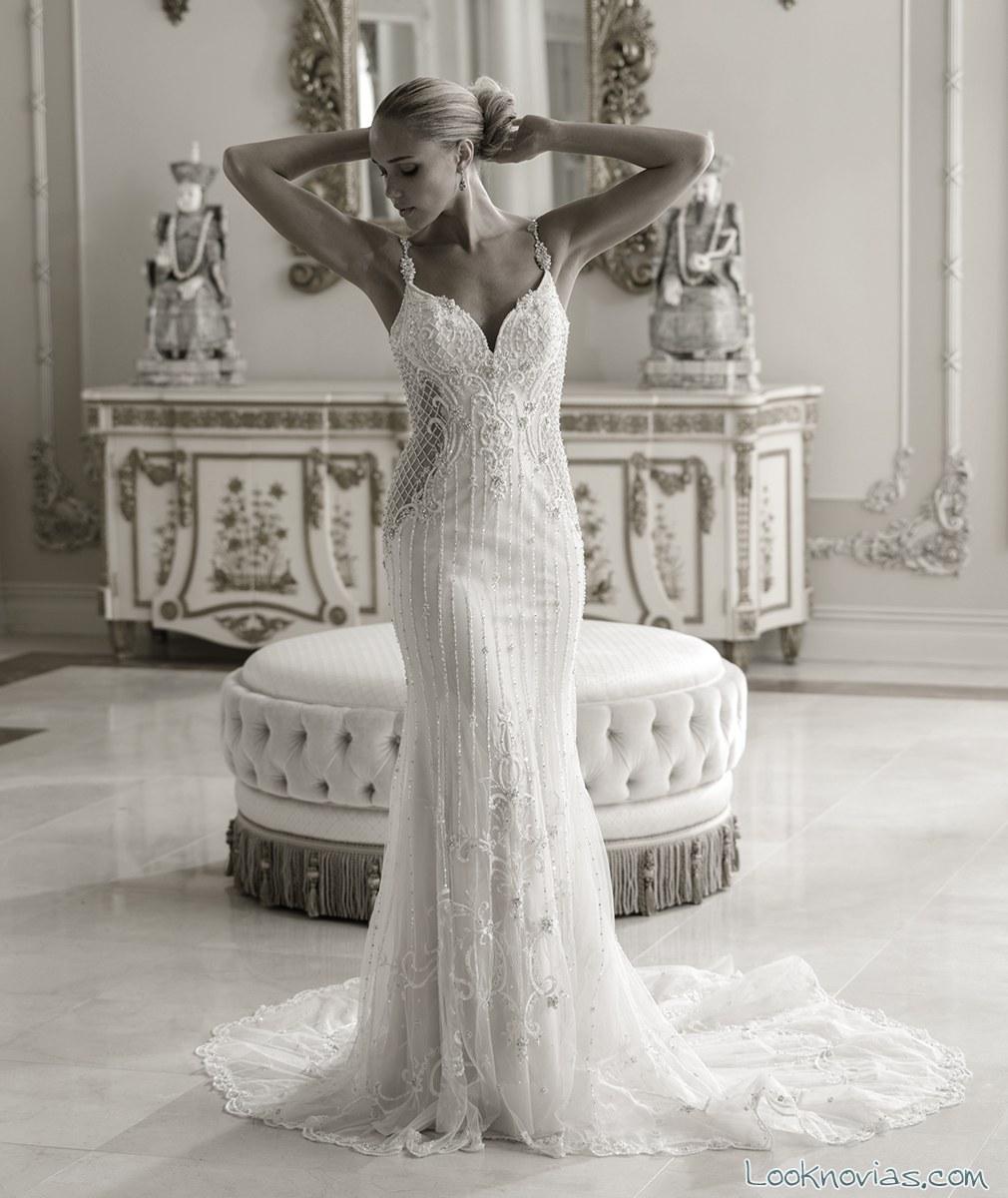vestido sirena transparencias amalia carrara
