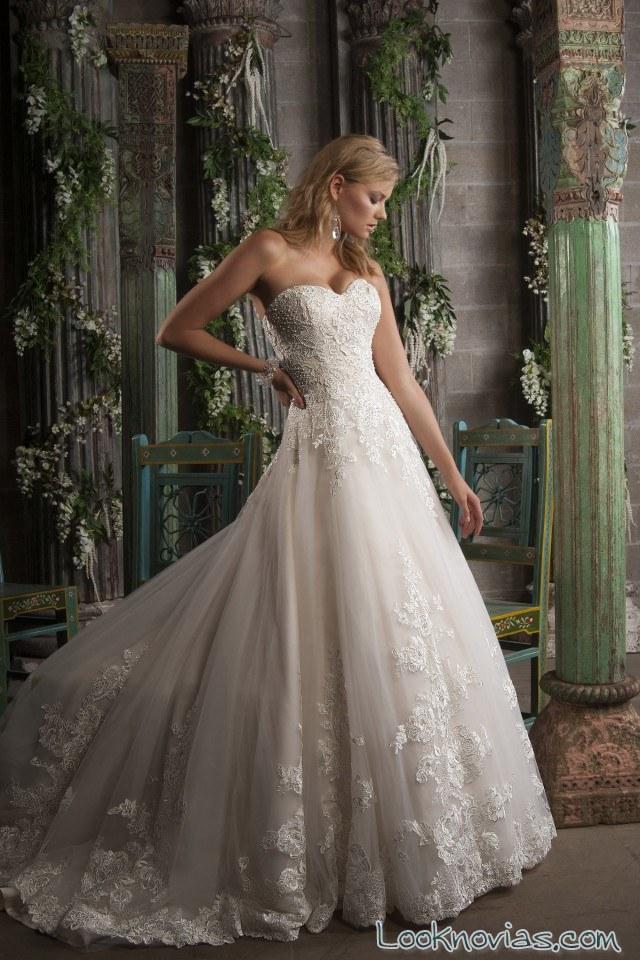 vestido strapless de novia christine dando
