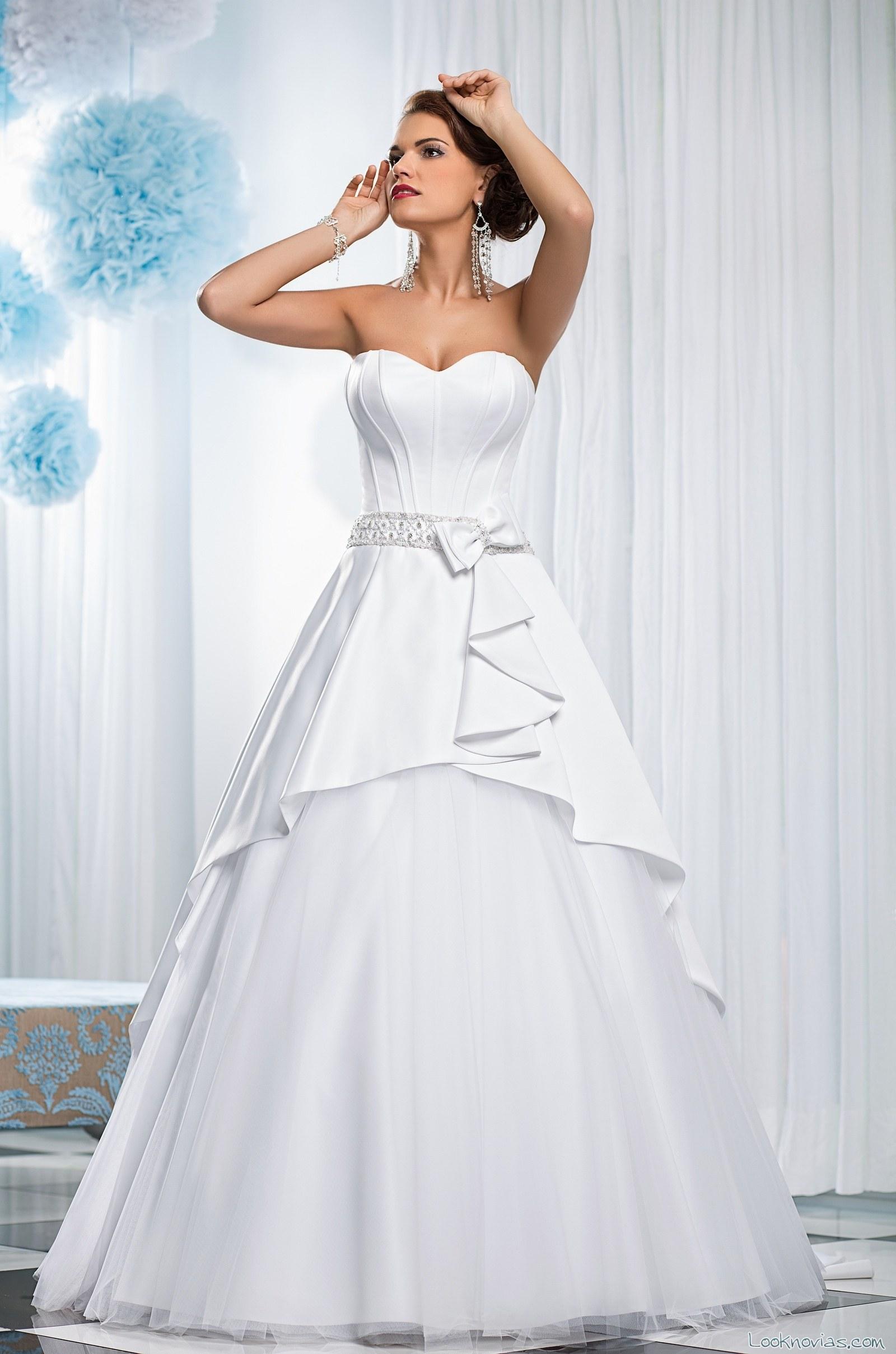 vestido strapless lucienne