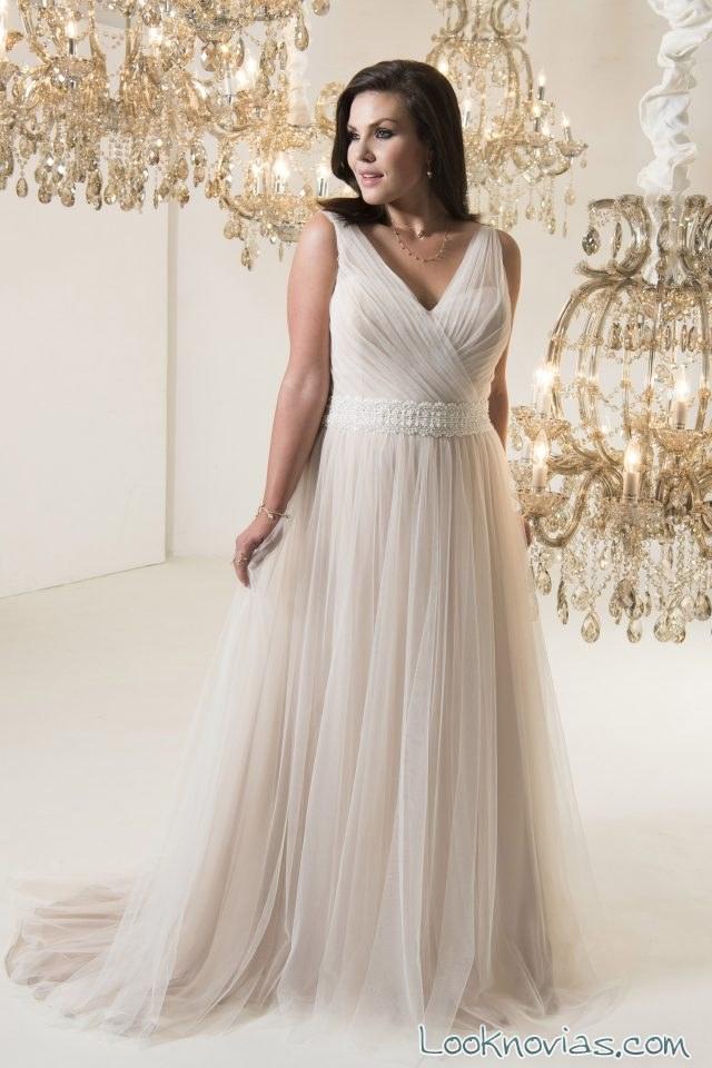vestido suave caída callista bridal