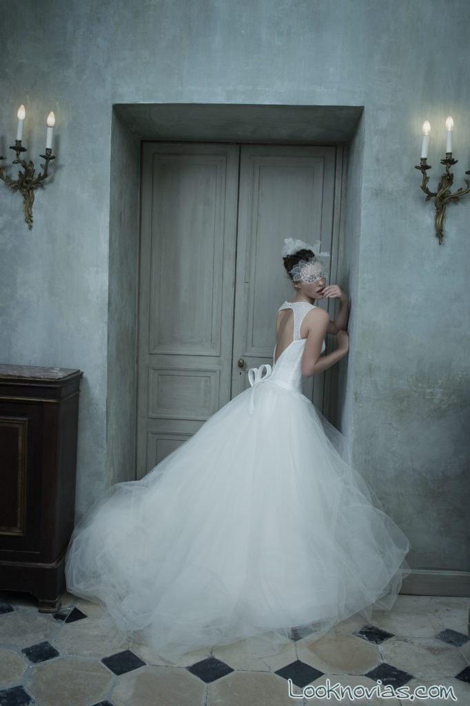 vestido tul novias con escote trasero cymbeline