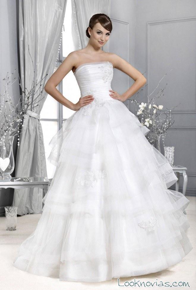vestido volantes blanco novias agnes bridal