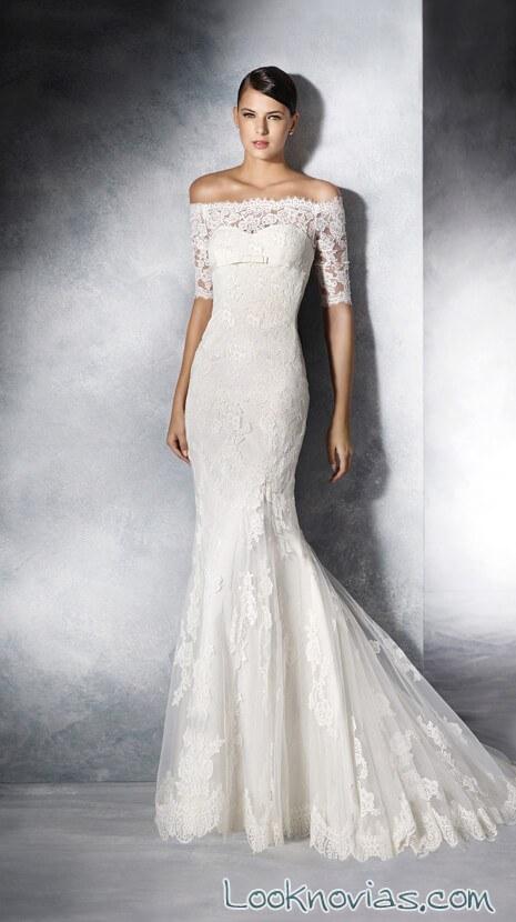 vestido white one con escote de hombros caídos