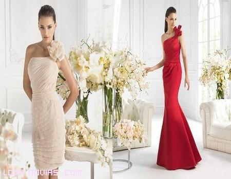 vestidos con apliques de flores