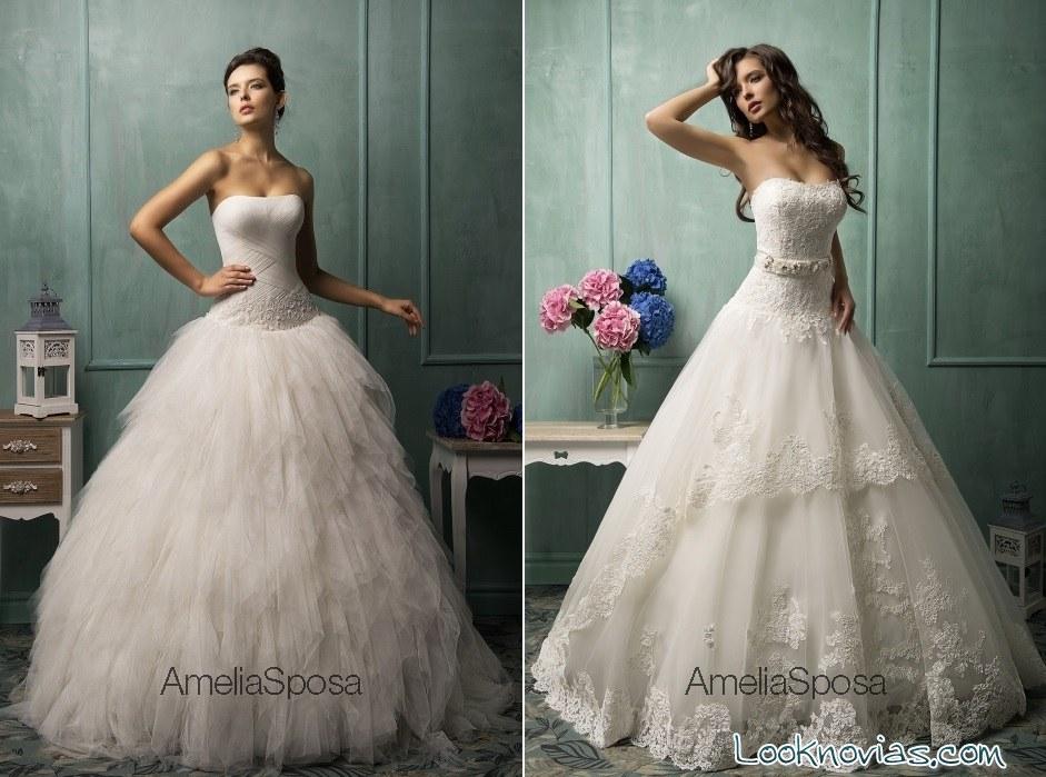 vestidos Amelia Sposa para novias 2015