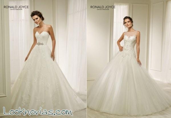Espectaculares vestidos de Ronald Joyce