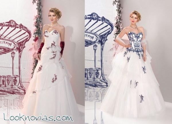 Originales vestidos con bordados en color